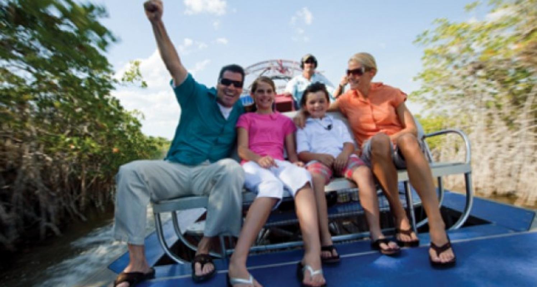 Fan boat in the Everglades