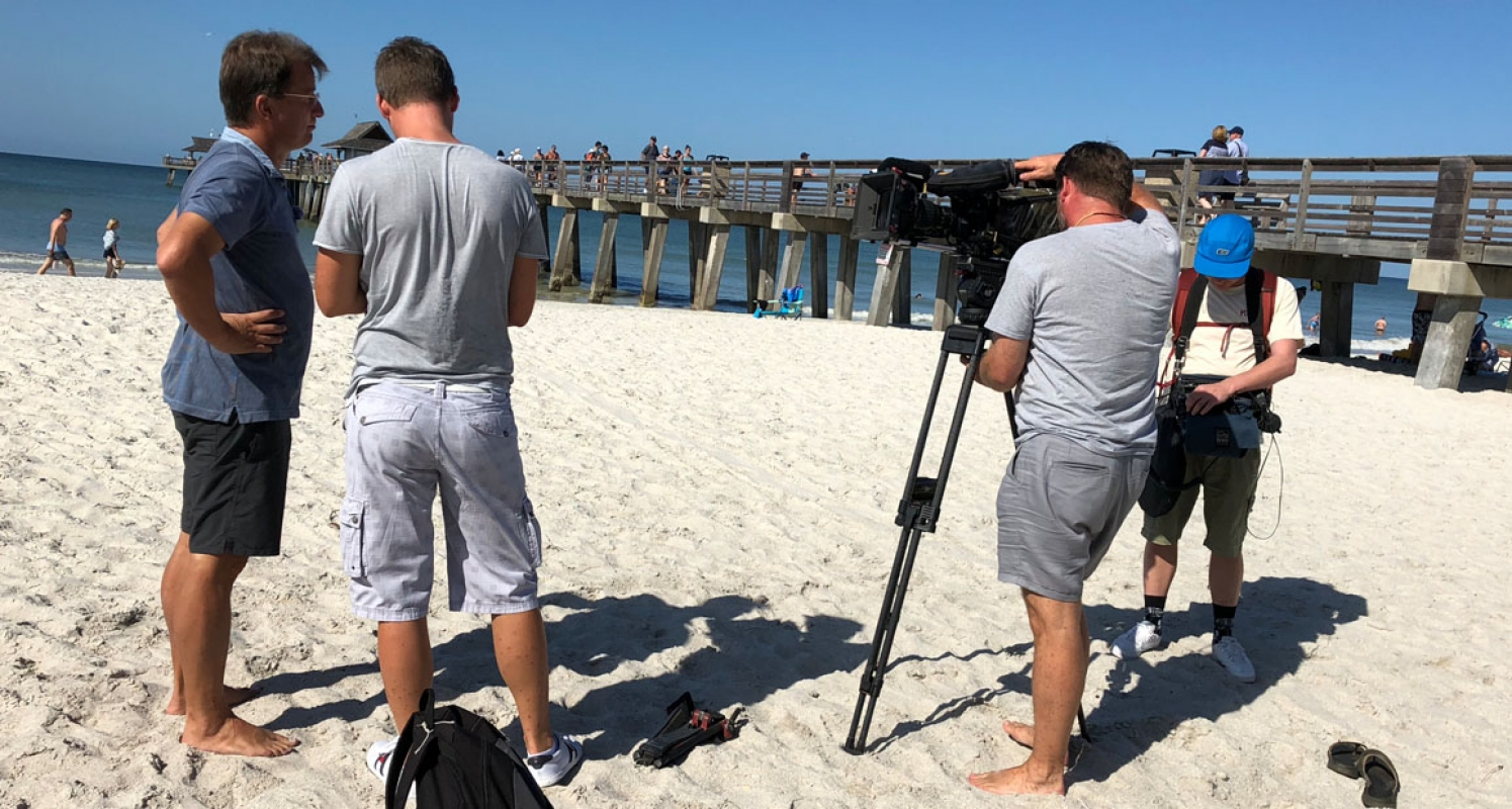 Filming at Naples Pier