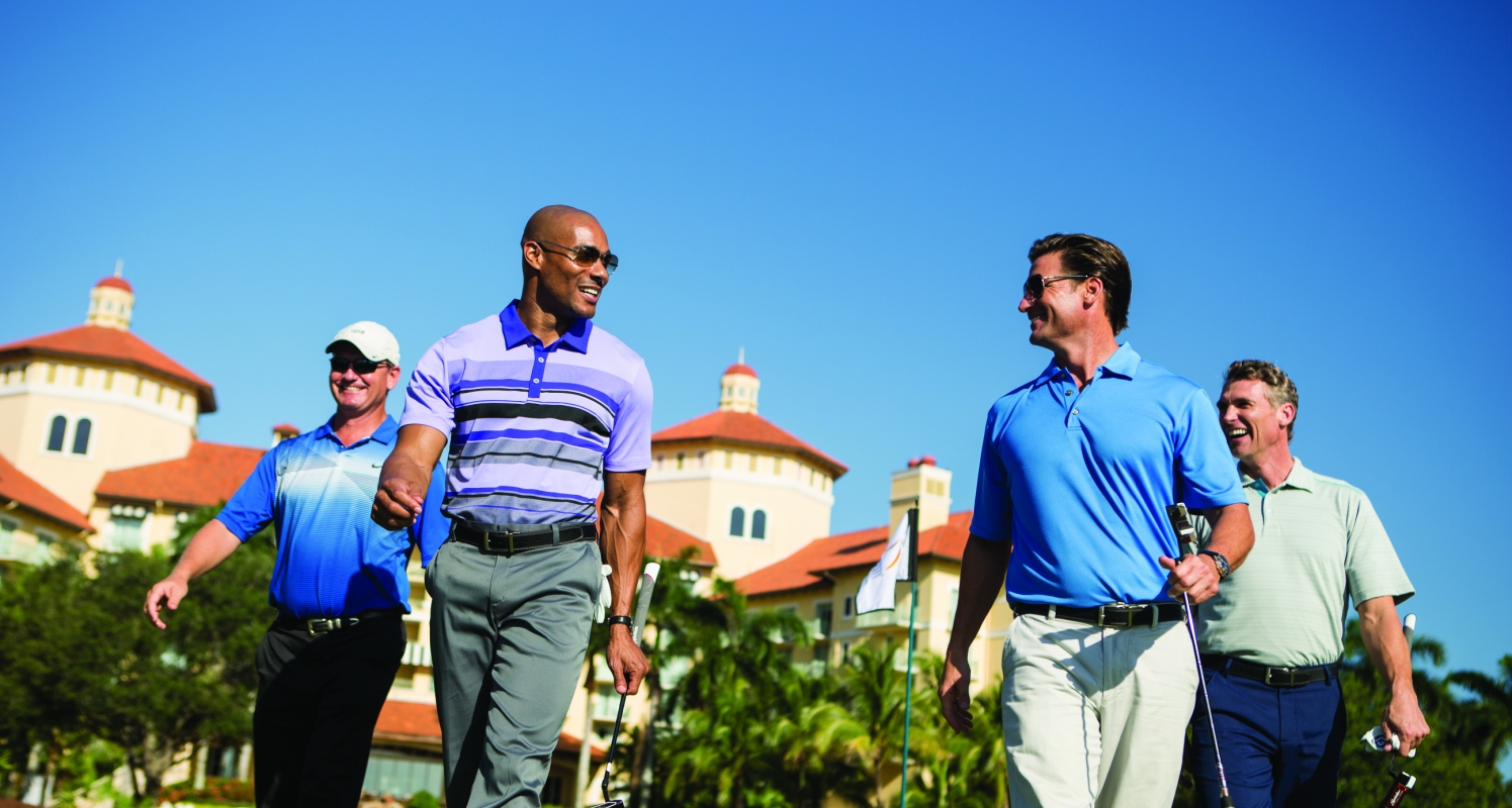 A round of golf is a must during a guy's getaway in Naples, Fla.
