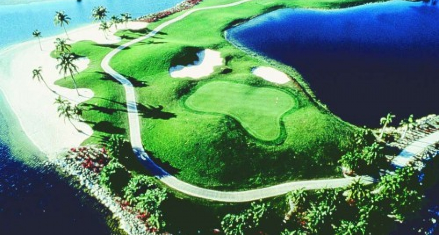 Aerial view of Naples golf course