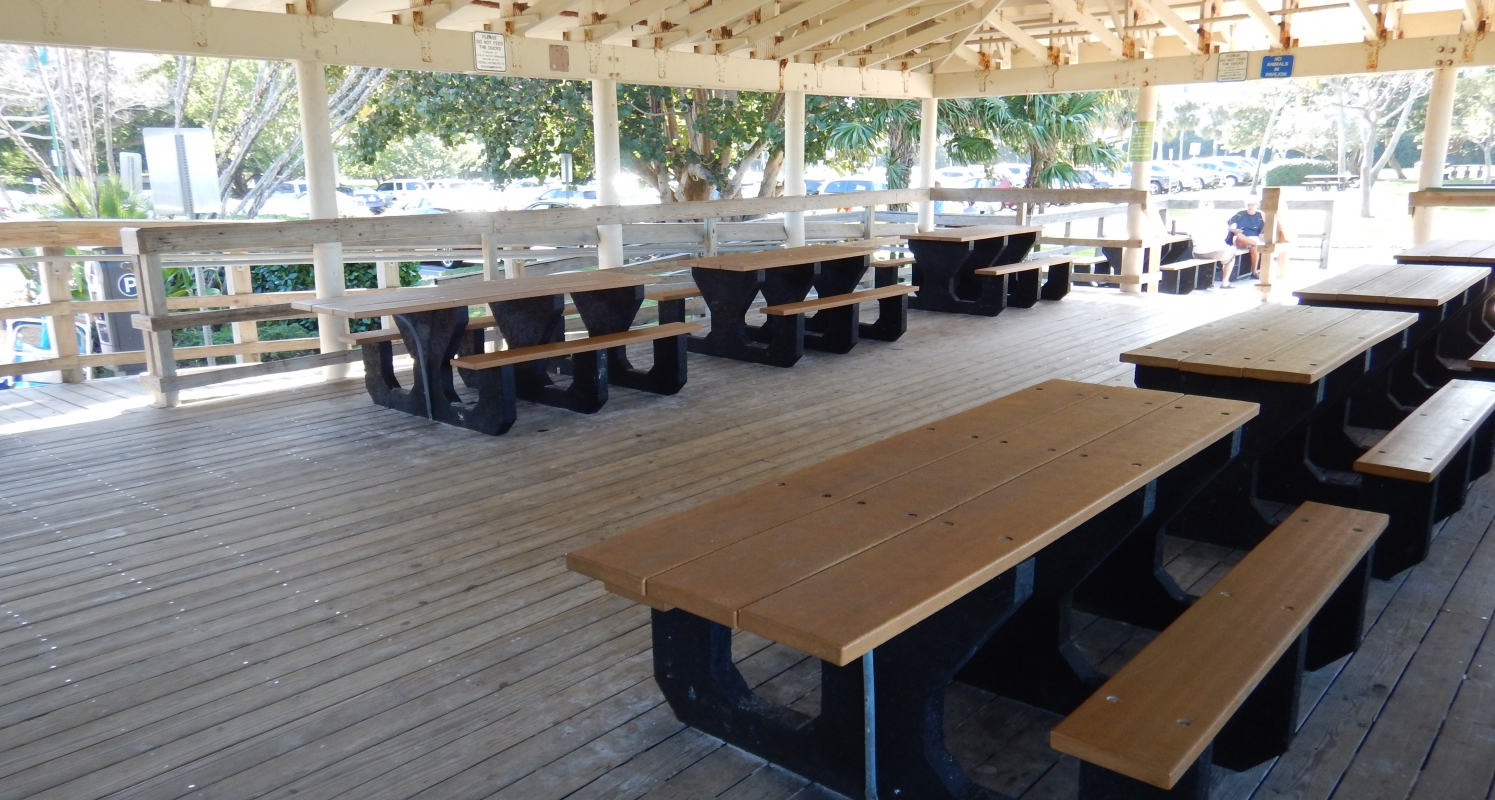 Beach Cafe Covered Eating Area