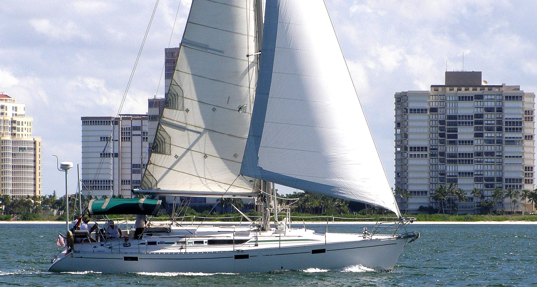 Sailing along the Naples coastline