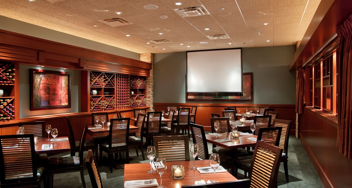 One of three private dining areas.