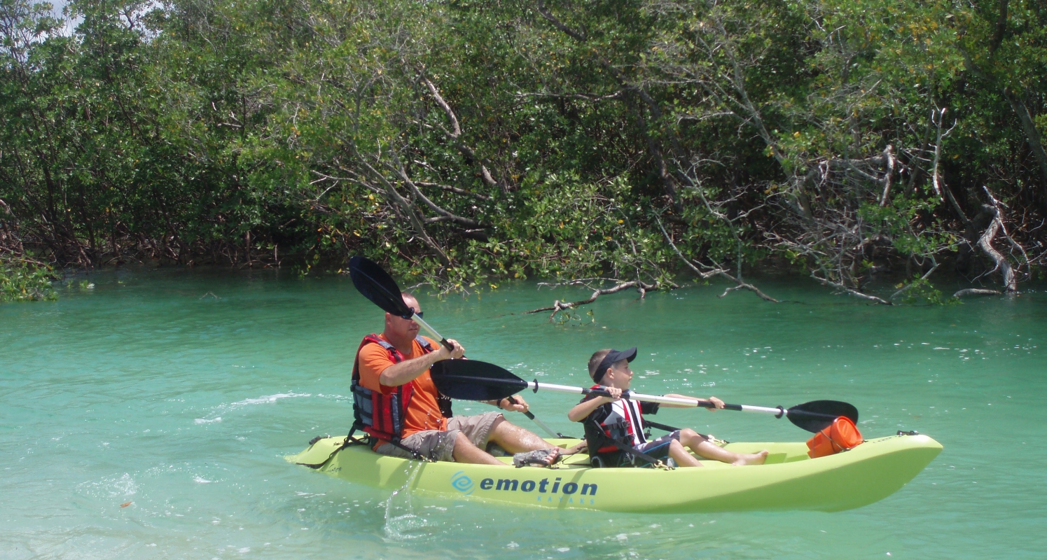Double Kayak  Father and Son