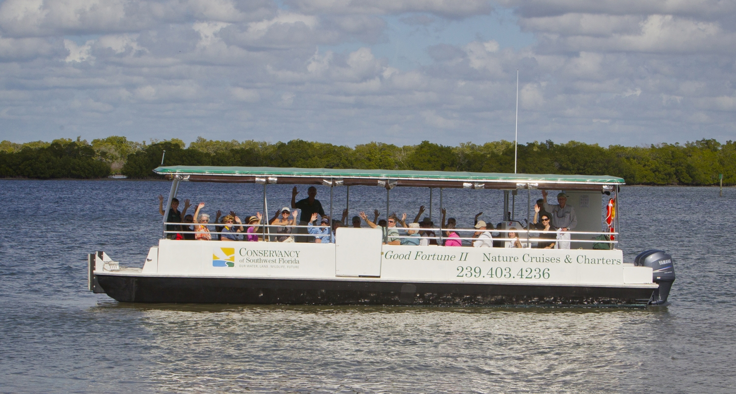 Take a lunch time or sunset cruise of Rookery Bay. Perfect for charters. www.conservancy.org/goodfortune