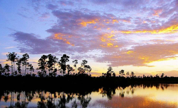 Sunset over Everglades National Park