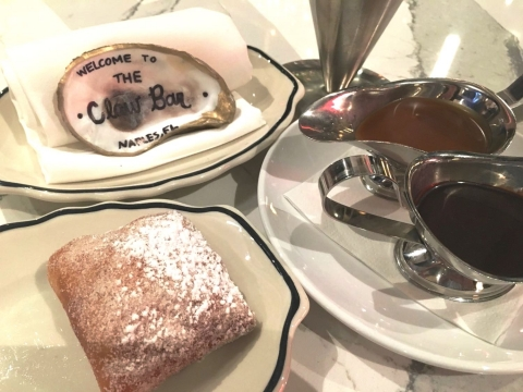 Beignets are not to be missed at the Claw Bar.