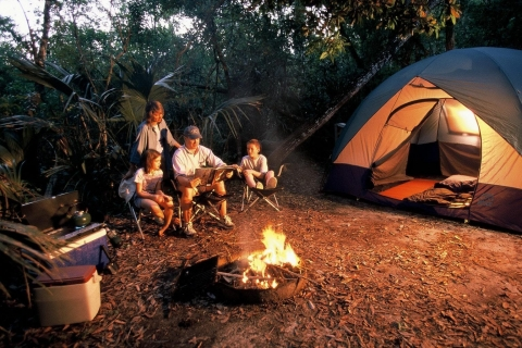 Camping in Collier-Seminole State Park.