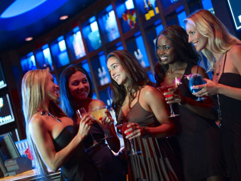 A group of ladies enjoy cocktails at Blue Martini in Naples