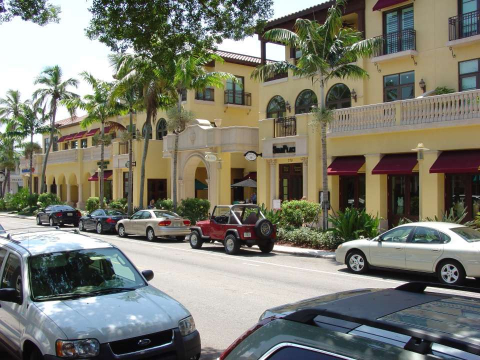 Fifth Avenue South shopping district in Naples, Florida