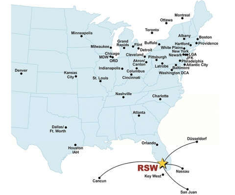 Map Of Florida Airports And Cities.Southwest Florida International Airport Direct Flight Cities