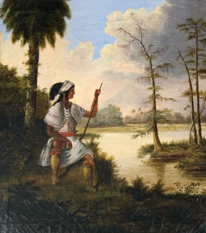 A painting depicts early life in Southwest Florida.