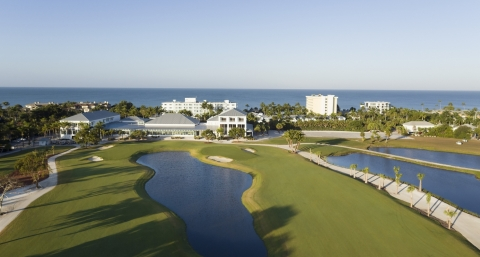 The Naples Beach Hotel & Golf Club's course was redesigned by Jack Nicklaus.
