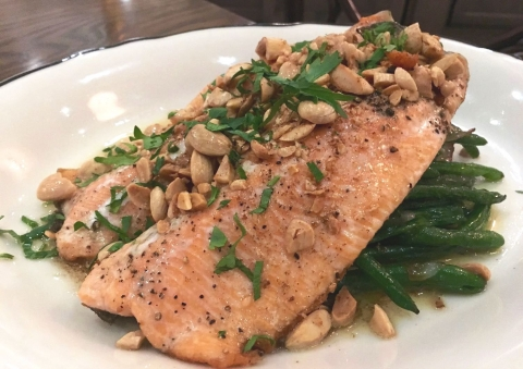 Trout Amandine is a favorite at The French