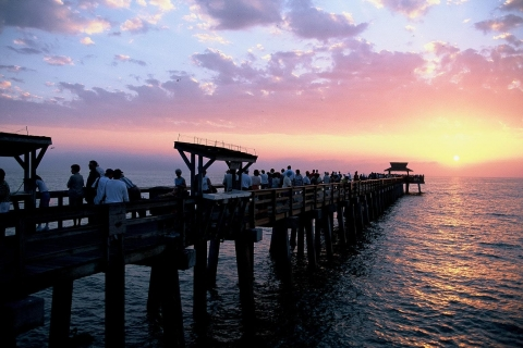 Naples Pier is the local gathering place for sunset.