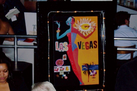 Vintage Vegas Poster with Chaser Lights
