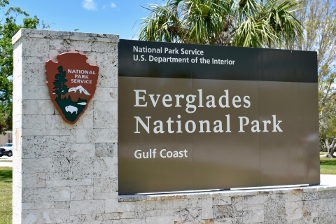 Gulf Coast entrance to Everglades National Park in Everglades City, Florida
