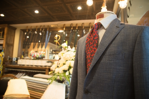 Shopping custom suits in Naples, Florida.
