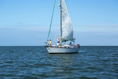 Sailboating on the Gulf in Paradise