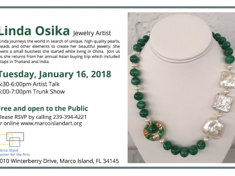 Unique Jewelry by Linda Osika At Marco Island Center for the Arts