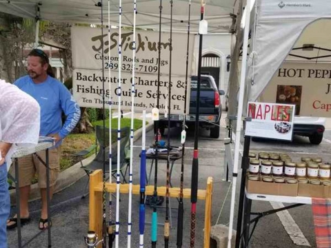 J-Stick'um Custom Rods & Jigs at Vanderbilt Farmers Market