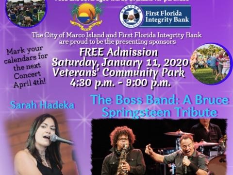 Island Rocks Concert Flyer