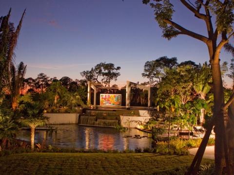Brazilian Garden at Sunset