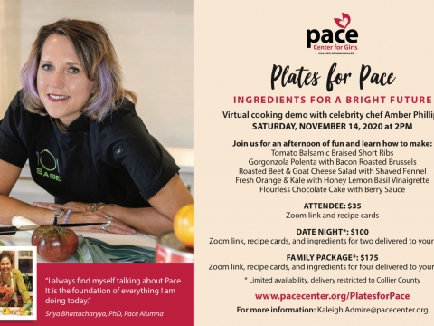 Plates for Pace Virtual Cooking Demo