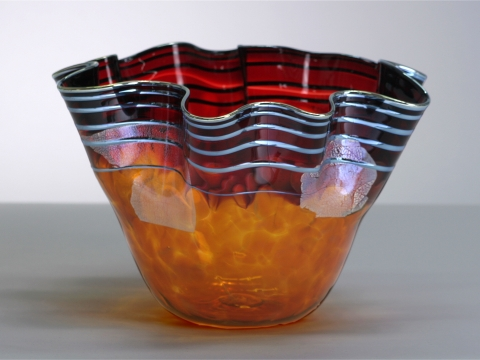Red-Amber Bowl by Corey Hubbel