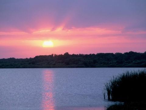 Sunset at Lake Trafford