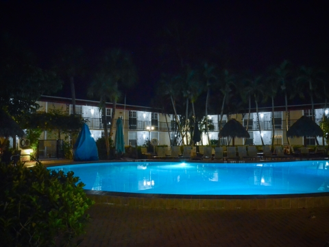pool shot @ night
