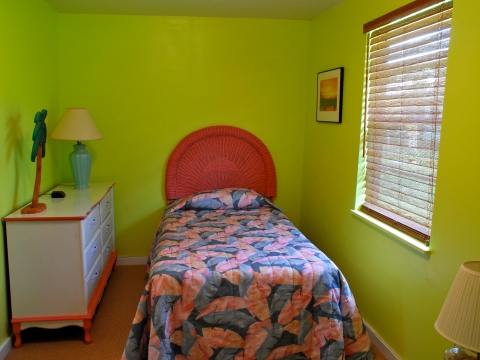 One of two bedrooms in the Cottage