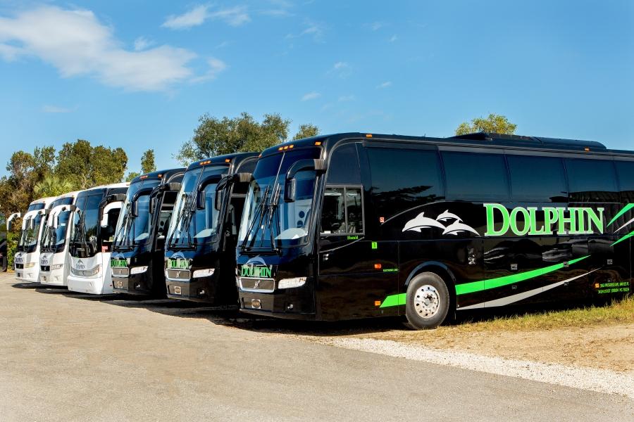 New Volvo 56 Passenger motor coaches