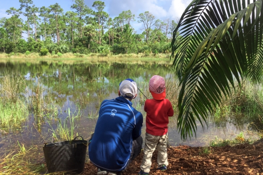 Father's Day fishing at Naples Botanical Garden