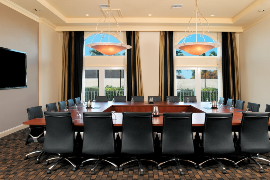 Hilton Naples Meetings Executive Boardroom - Seats up to 22