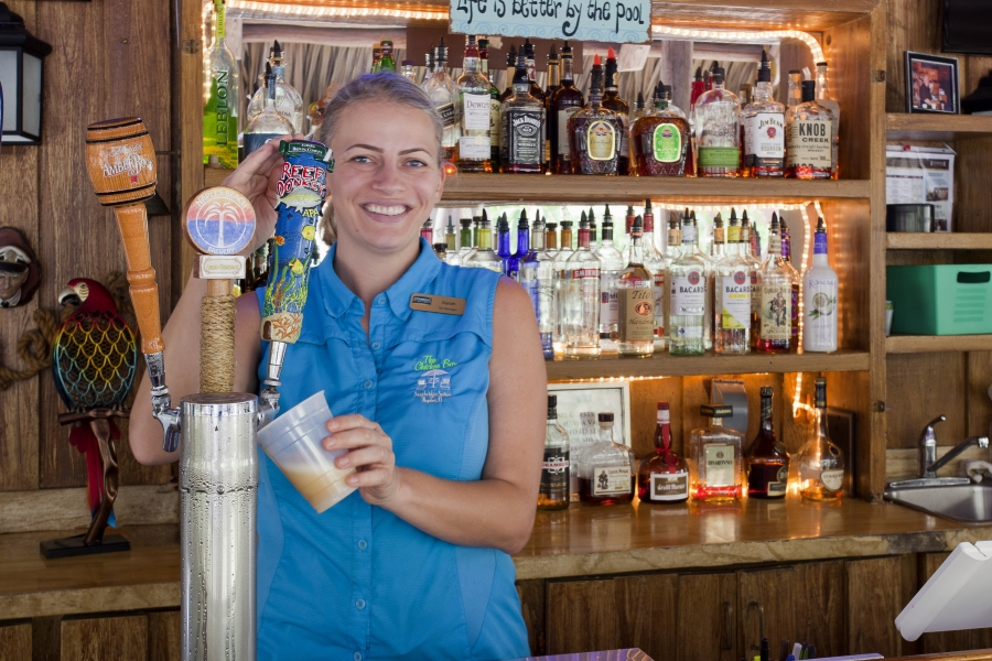 Our Naples Hotel outdoor Chickee Bar & bartenders are always ready to whip up a tropical drink!