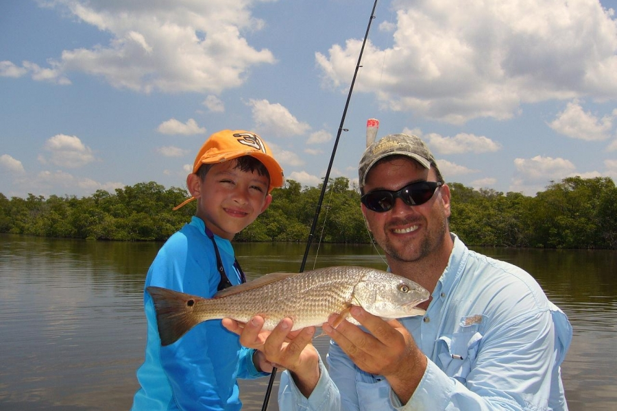 Redfish make kids happy!