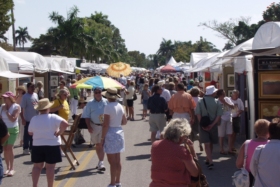 The Naples National Art Festival in February is ranked in the top 10 national art fairs.