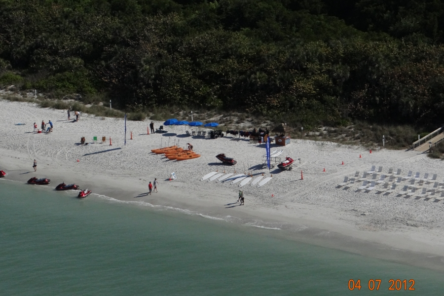 The Bird S Eye View Of Naples Beach Water Sports