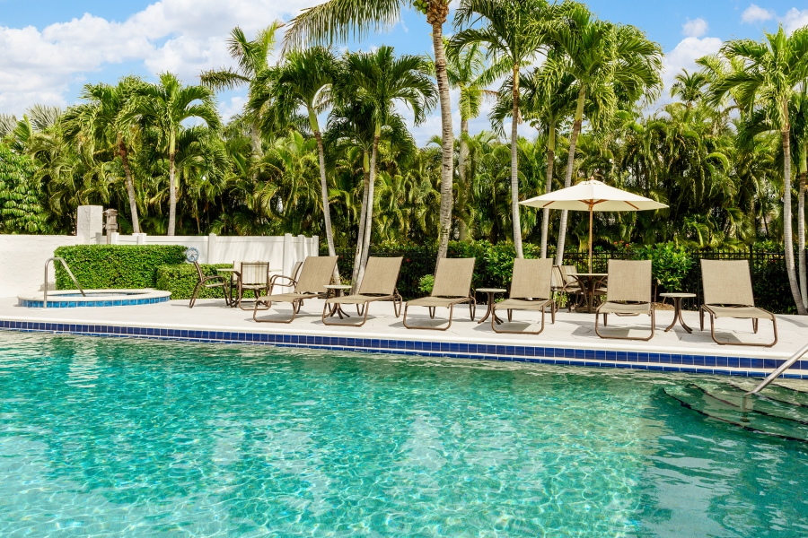 Come relax poolside!