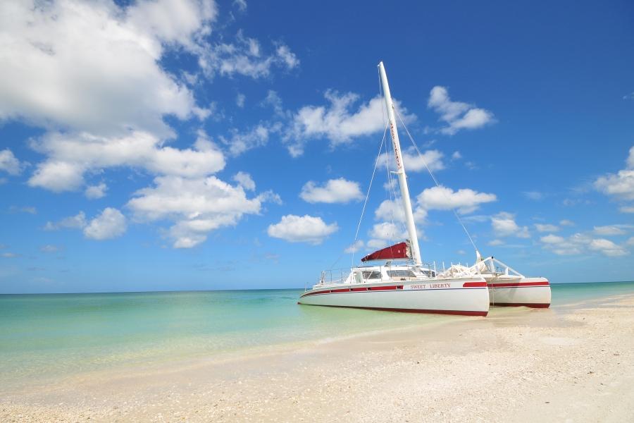 Sweet Liberty beached on Keewaydin Island