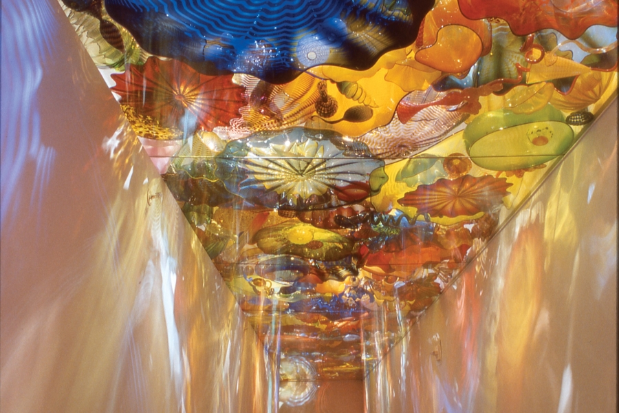 Persian Ceiling by Dale Chihuly at Naples Museum of Art