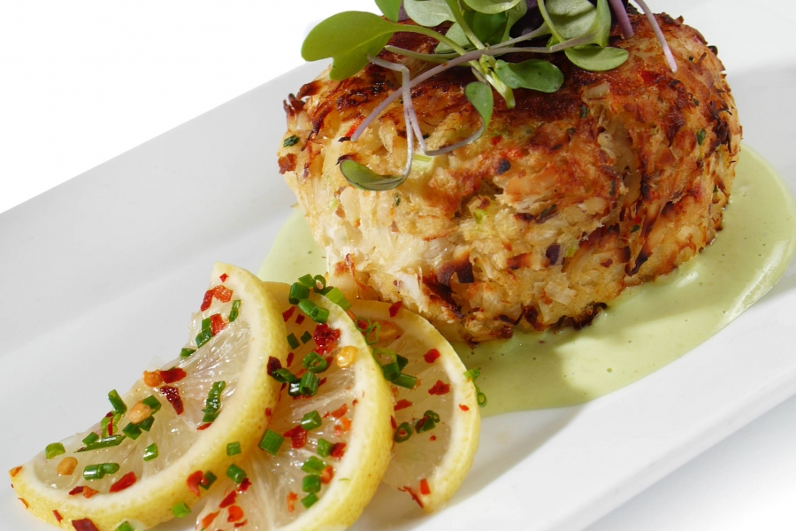 The Turtle Club's irresistible crab cake.