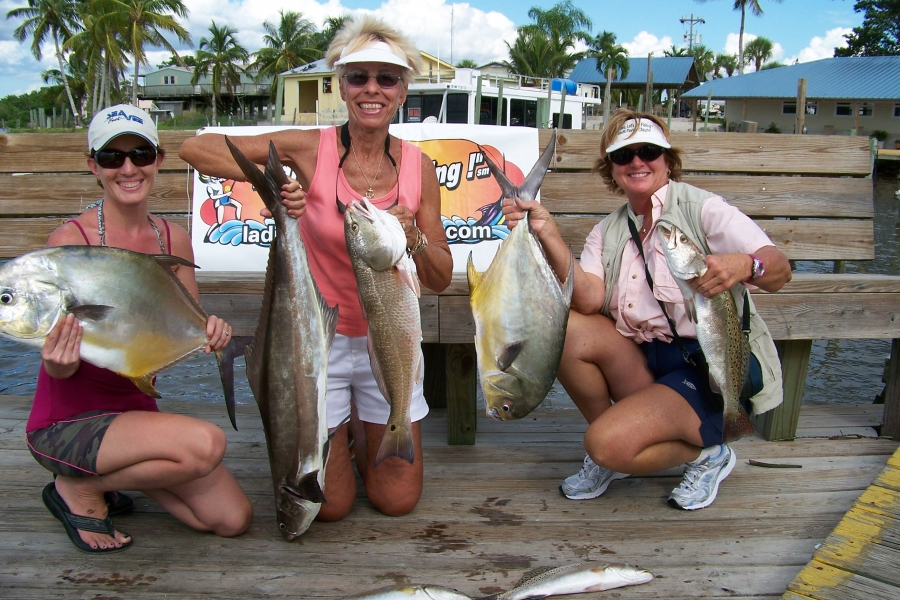 "Ladies Let""s Go Fishing Team with some nice fish caught with Finesse Charters."