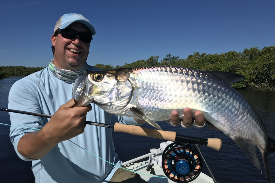 Fly fishing for tarpon in Naples