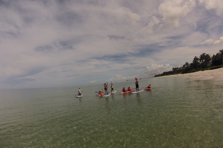 Naples paddleboard , weekend beach camp