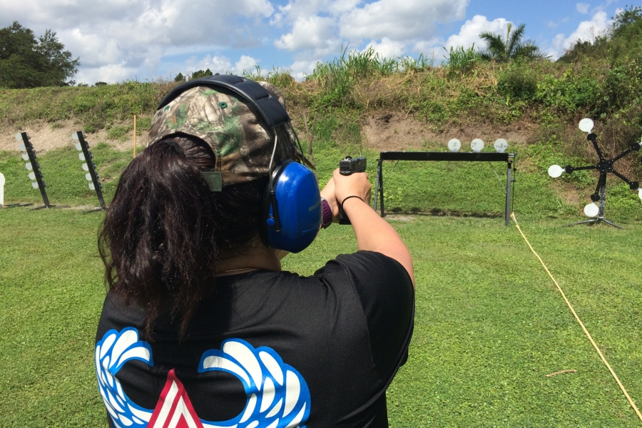 Firearms training for women is held monthly