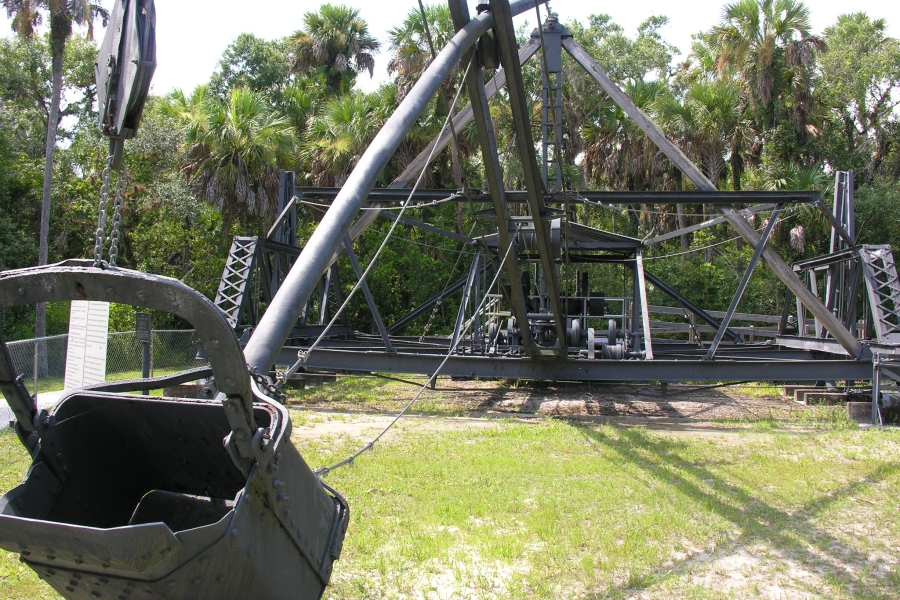 The historic Bay City Walking Dredge helped build the Tamiami Trail highway in the 1920s.