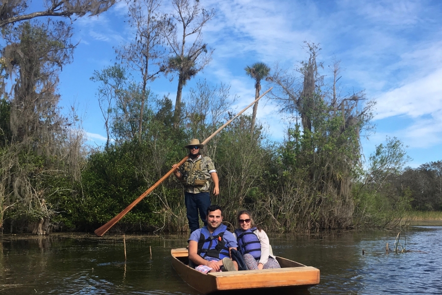 Native gladesman-style pole boat tour in Big Cypress National Preserve