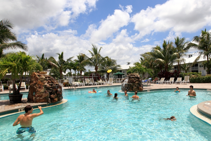 Fun in the pool at GreenLinks Resort
